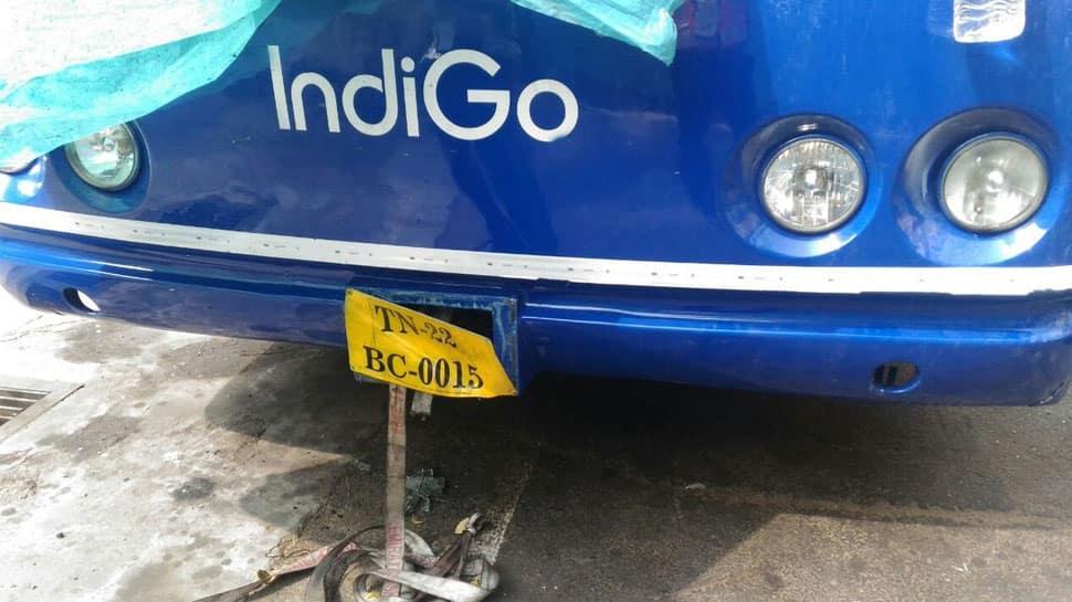 IndiGo passenger bus catches fire at Chennai airport, no injuries