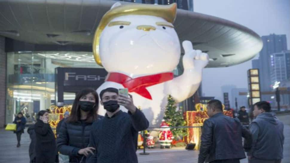 Dog statue of Donald Trump in China mall is tickling the world funny