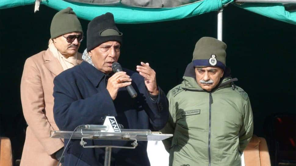 Rajnath Singh meets ITBP personnel in Nelong in Uttarakhand - In Pics