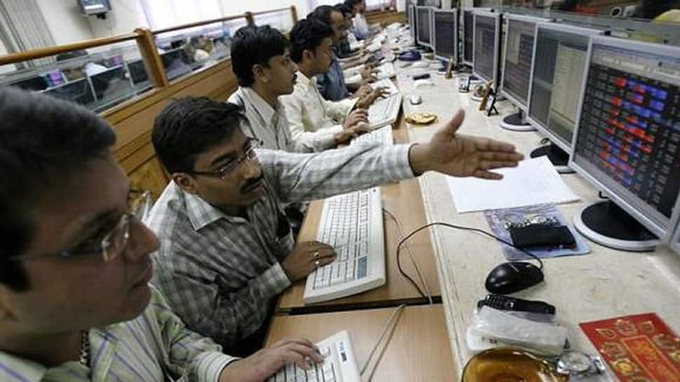 Sensex jumps over 100 points, Nifty nears 10,500 mark