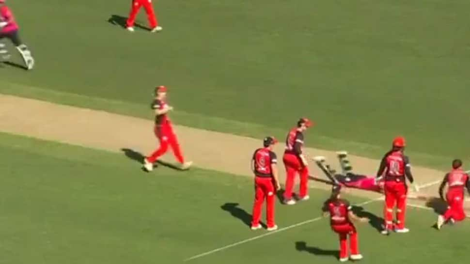 Watch: Bowling team forgets to remove bails, batters run on to secure tie