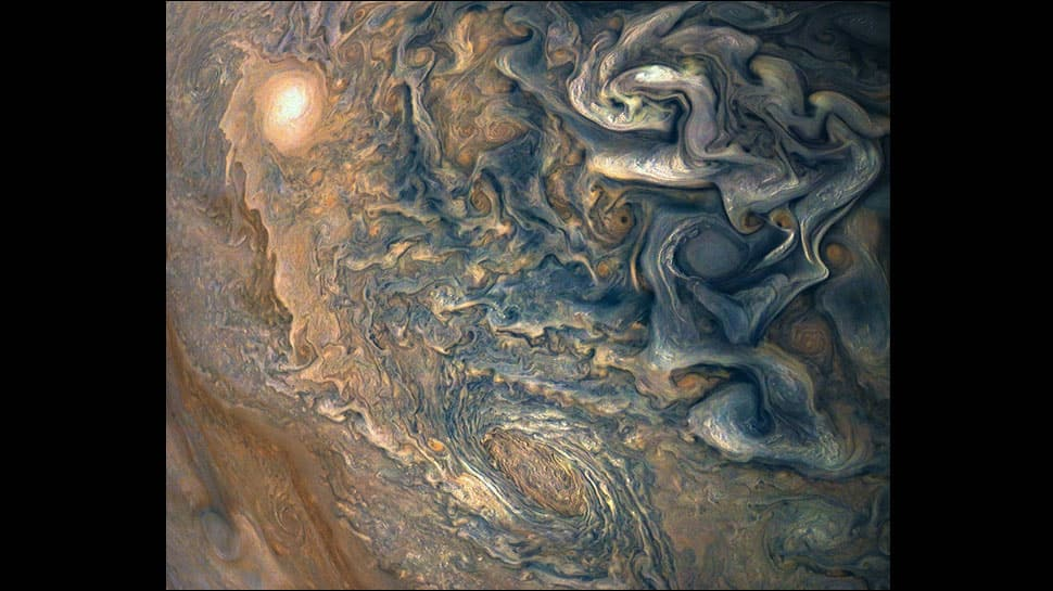 NASA's Juno captures 'mind-bending' image of Jupiter's tumultuous atmosphere – See pic