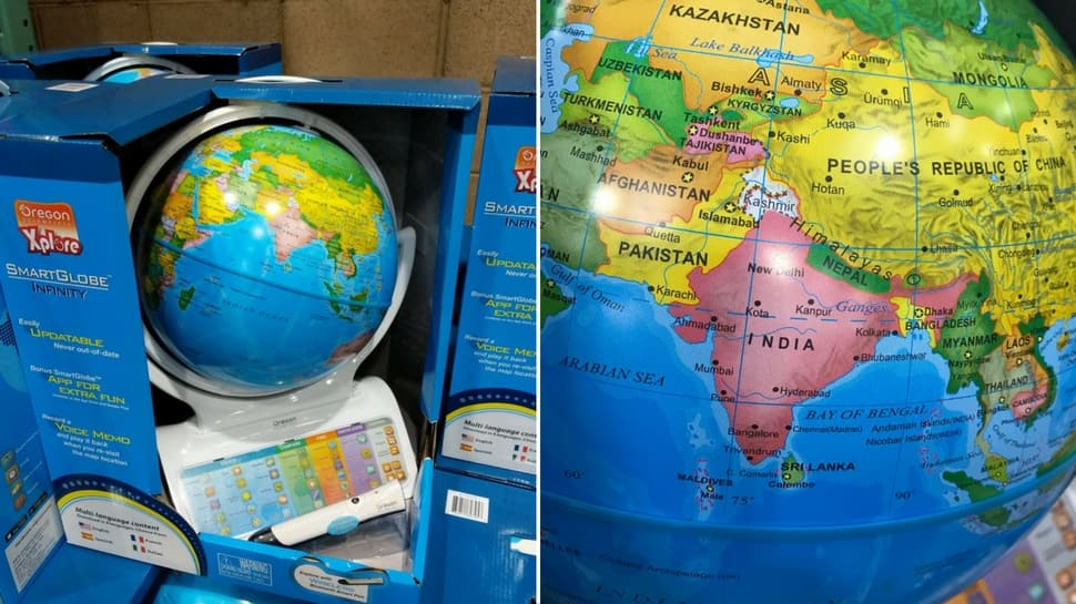 These 'made in China' globes do not include Kashmir, Arunachal Pradesh as part of India, Twitter complains