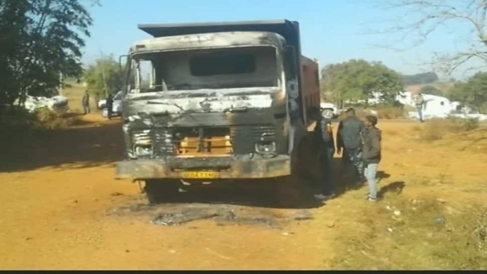 Naxals torch 6 vehicles, blow up 2 weigh-bridge units in Chhattisgarh