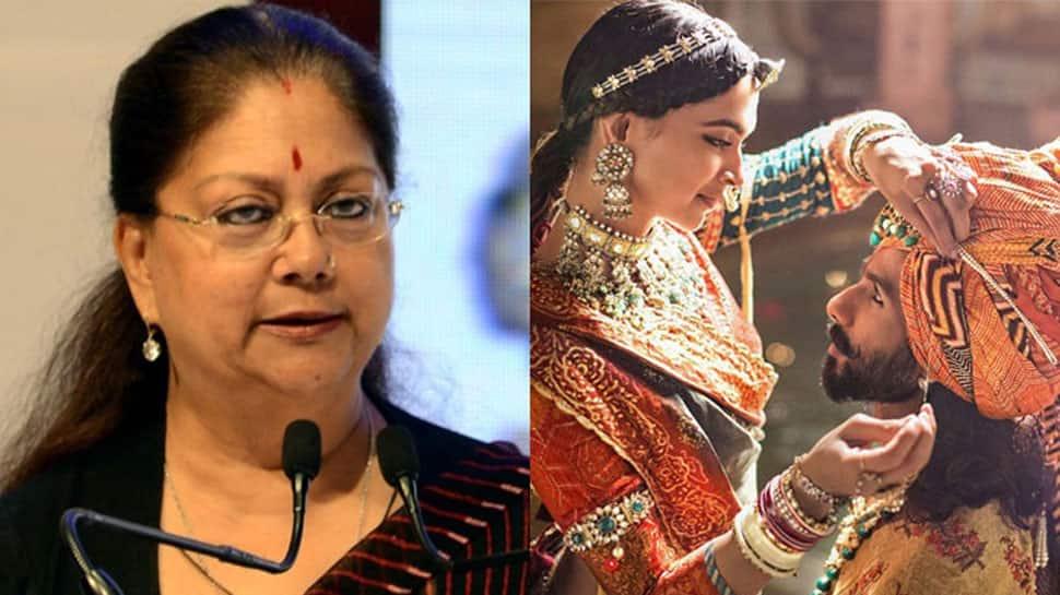 CM Vasundhara Raje confirms, 'Padmavat' won't release in Rajasthan