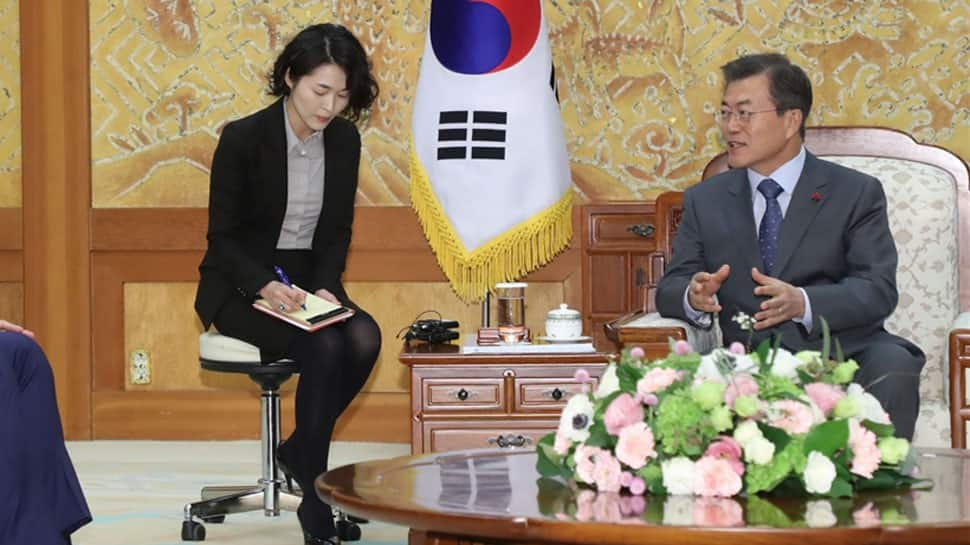 Denuclearisation is path to peace: South Korea`s Moon Jae-In