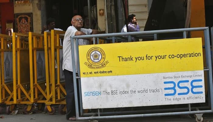 Sensex slips from record after a four-session winning streak