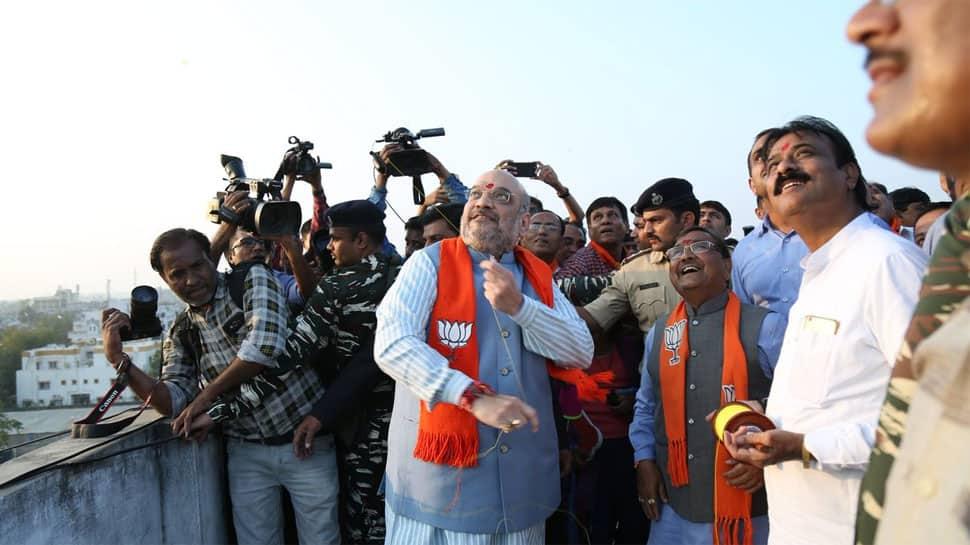 Vijay Rupani and Amit Shah fly kites, celebrate Makar Sankranti