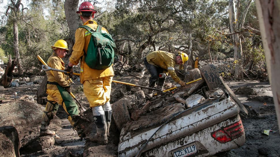 Twenty dead in California mudslides, major highway closed