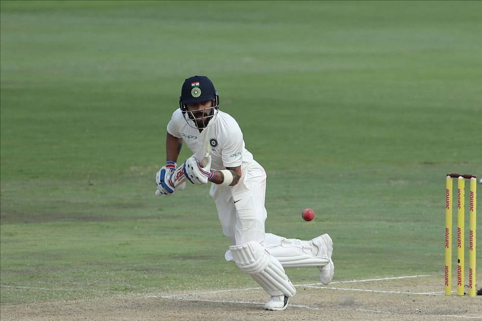 Indian captain Virat Kohli in action during the second day of the second Test match between South Africa and India at the Supersport park Cricket Ground in Centurion, South Africa.
