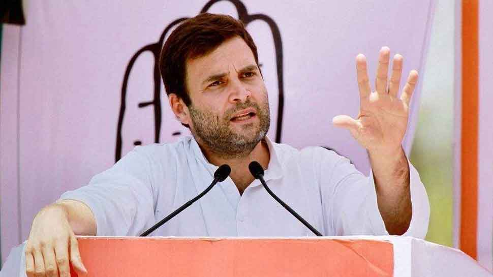 Rahul Gandhi's Amethi rally marred by protests from BJP supporters; route changed