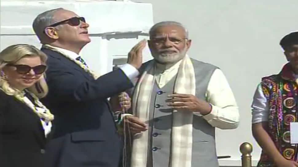 Watch: Benjamin Netanyahu flies a kite with PM Narendra Modi in Gujarat