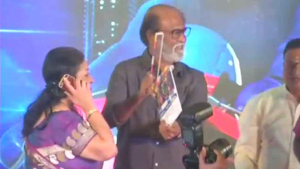 In politically sensitive Tamil Nadu, Rajinikanth, Kamal Haasan attend launch of MGR's dream project Kizhakku Africavil Raju