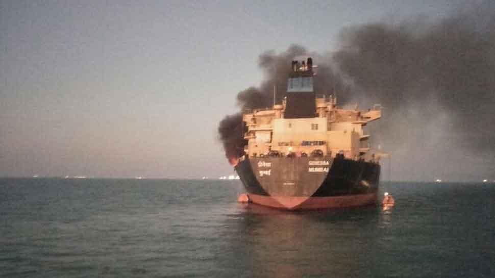 Fire onboard oil vessel off Gujarat coast, 26 crew members rescued by coast guard