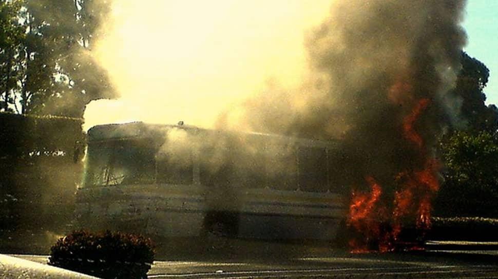 Passenger bus catches fire in Kazakhstan's Aktau region, 52 dead