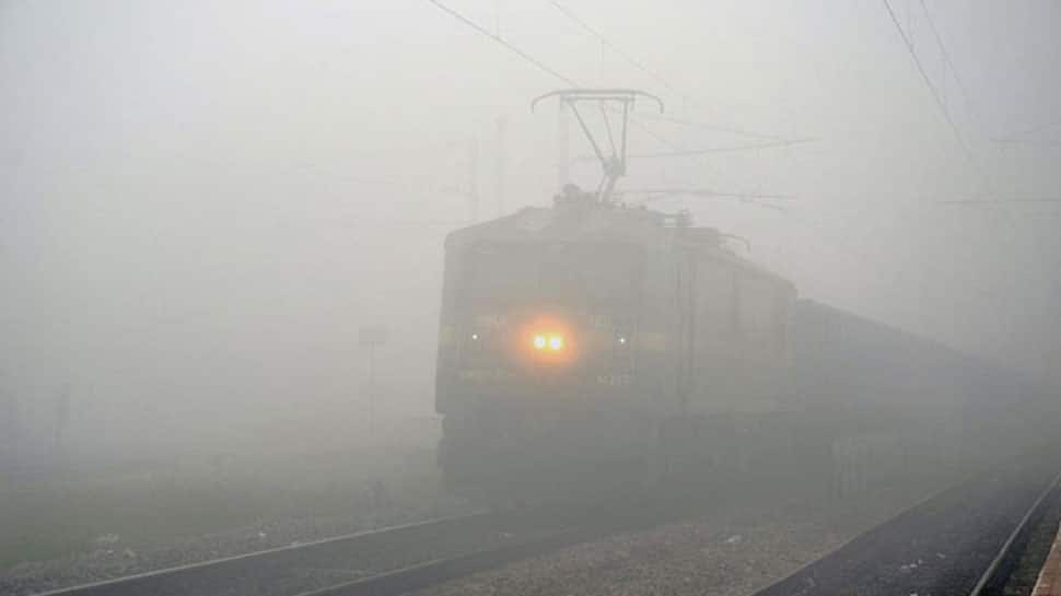 Dense fog shrouds Delhi, several trains delayed due to low visibility