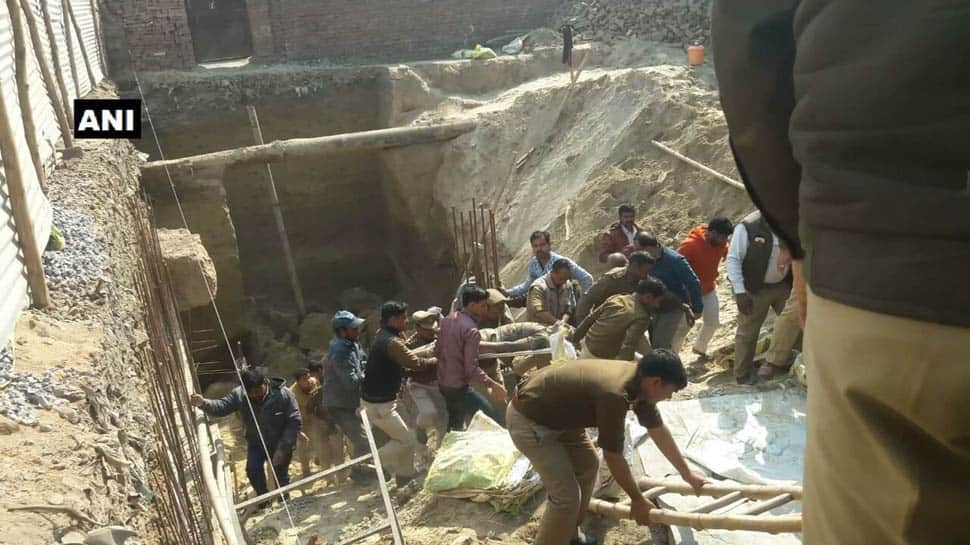 2 killed, 2 injured as part of multi-level parking lot collapses in Kanpur