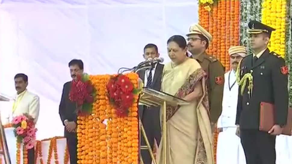 Anandiben Patel takes oath as Governor of Madhya Pradesh