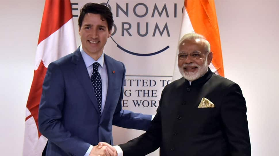 PM Narendra Modi meets his Canadian counterpart Justin Trudeau