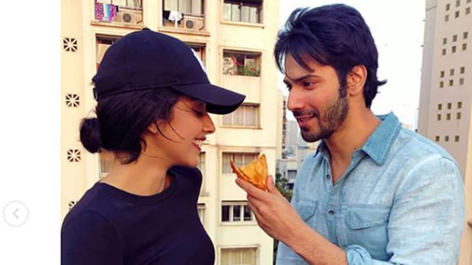 Varun Dhawan bonds with Banita Sandhu over samosa on 'October' sets