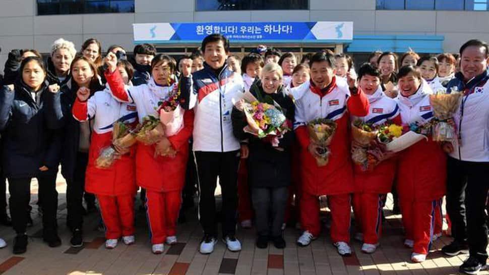 Winter Olympics 2018: North, South Korea hockey players team up