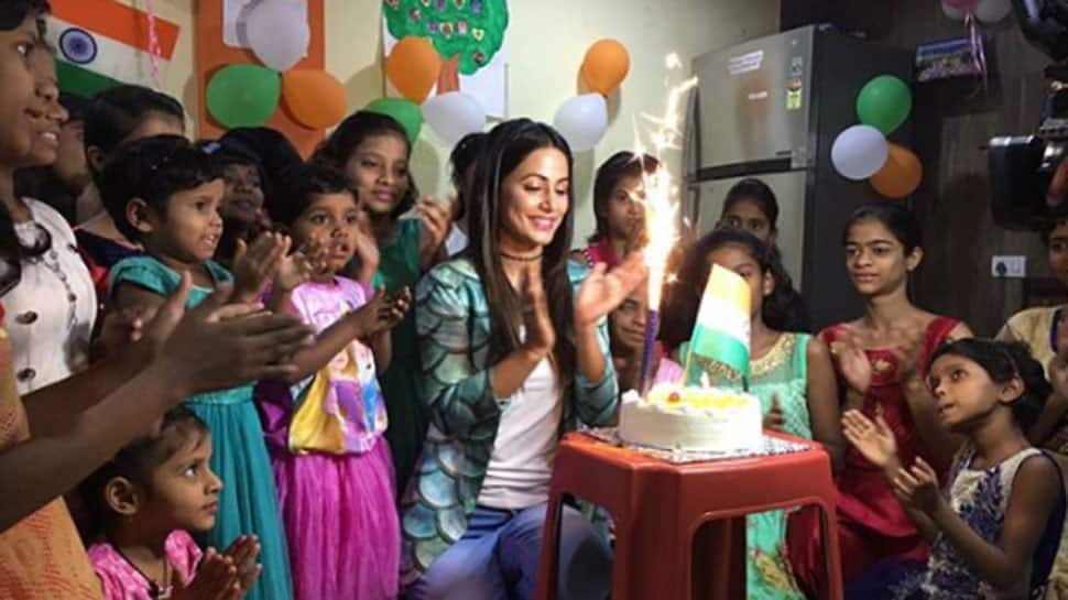 Bigg Boss 11 finalist Hina Khan celebrates Republic Day with kids—Watch