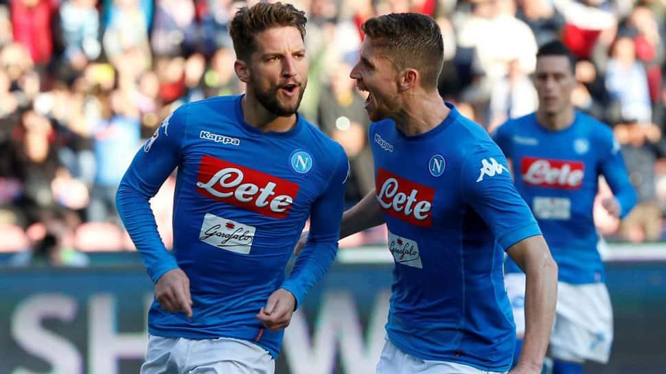 Dries Mertens keeps Napoli top, AC Milan stall Lazio in Serie A