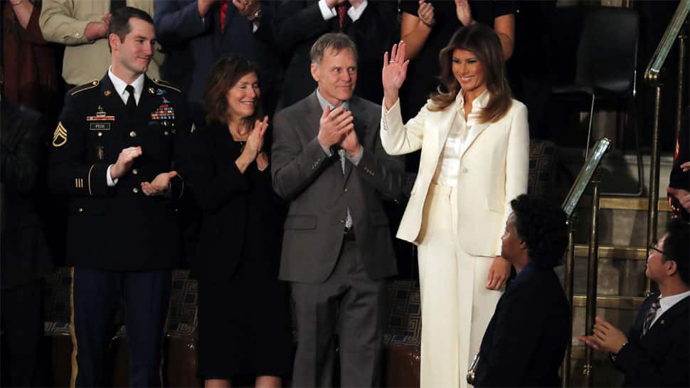 Marital trouble rumours after Melania and Donald Trump arrive separately for State of the Union address