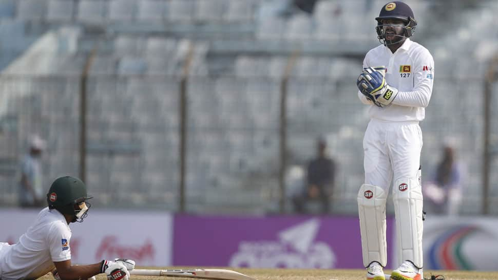 1st Test: Sri Lanka come up with strong reply to Bangladesh's mammoth total