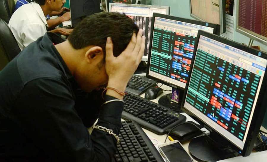 Sensex plummets close to 600 points, Nifty sinks below 10,900 mark