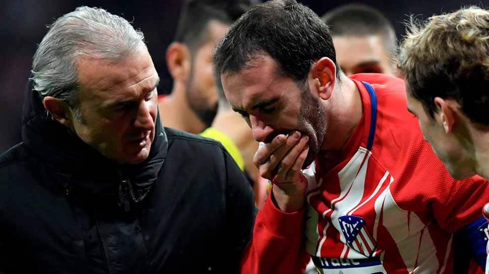 La Liga: Atletico defender Diego Godin loses three teeth in nasty collision
