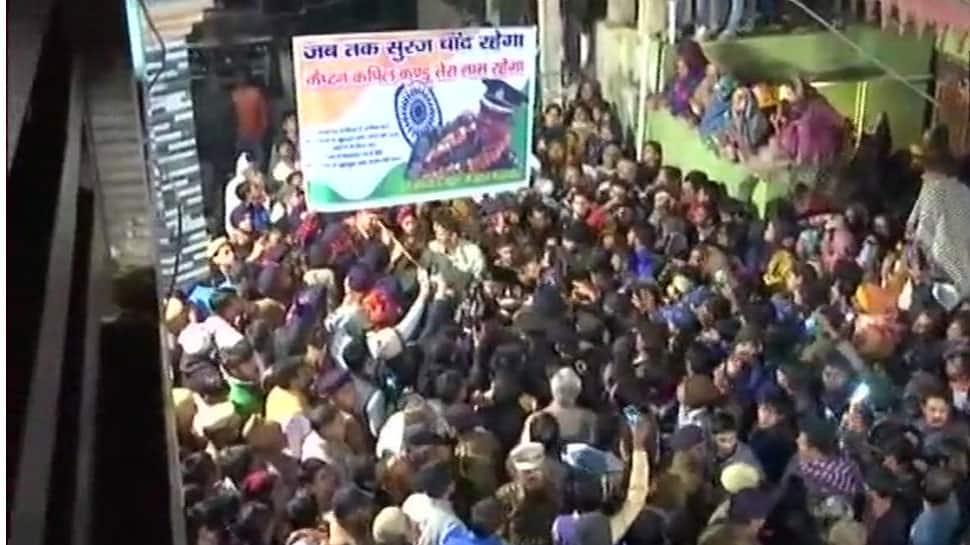 Funeral of Kapil Kundu, Army Captain killed in Kashmir, draws hundreds in his native Pataudi
