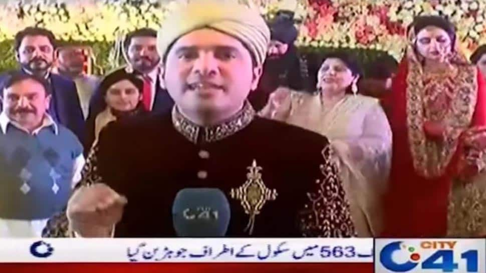 Watch: Pakistani reporter covers his own wedding, asks wife 'aapko kaisa lag raha hai'