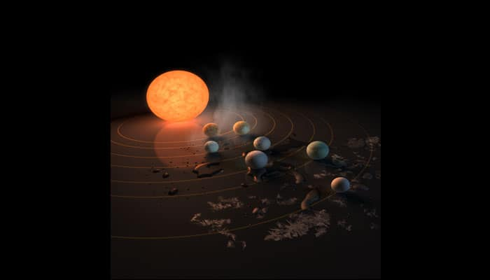TRAPPIST-1 planets could hold 250 times more water than the oceans on Earth