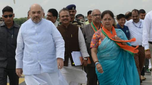 Rajasthan unhappy with Raje, look for replacement: BJP wing writes to Amit Shah