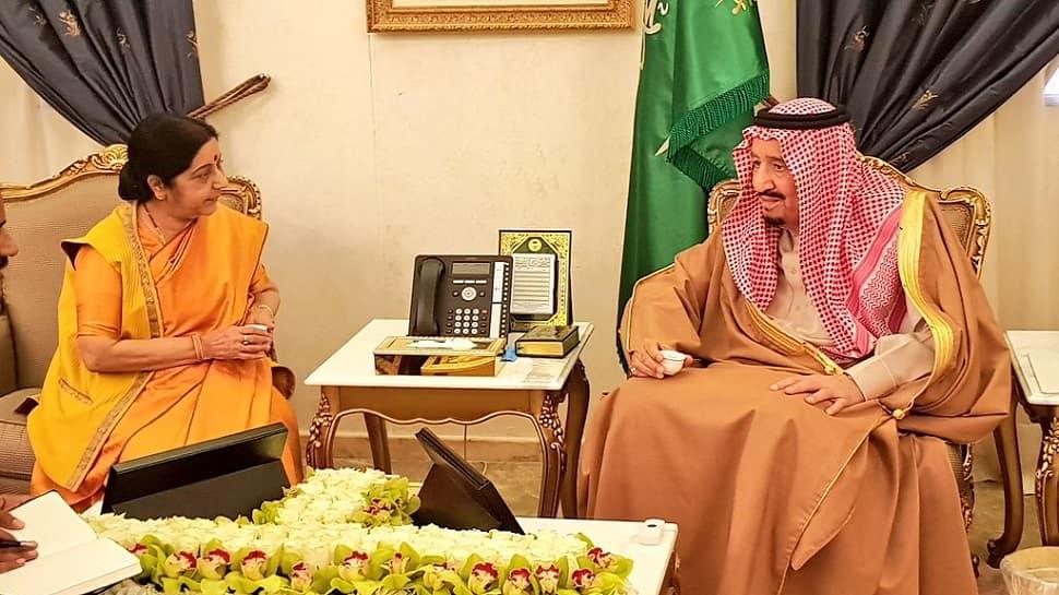'Saudi ka dost Bharat': Sushma Swaraj inaugurates Janadriyah festival, holds bilateral talks with Saudi King