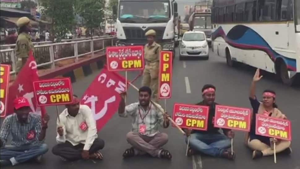 Visakhapatnam bandh: Left continues to protest against Union Budget, over 1300 state buses halted