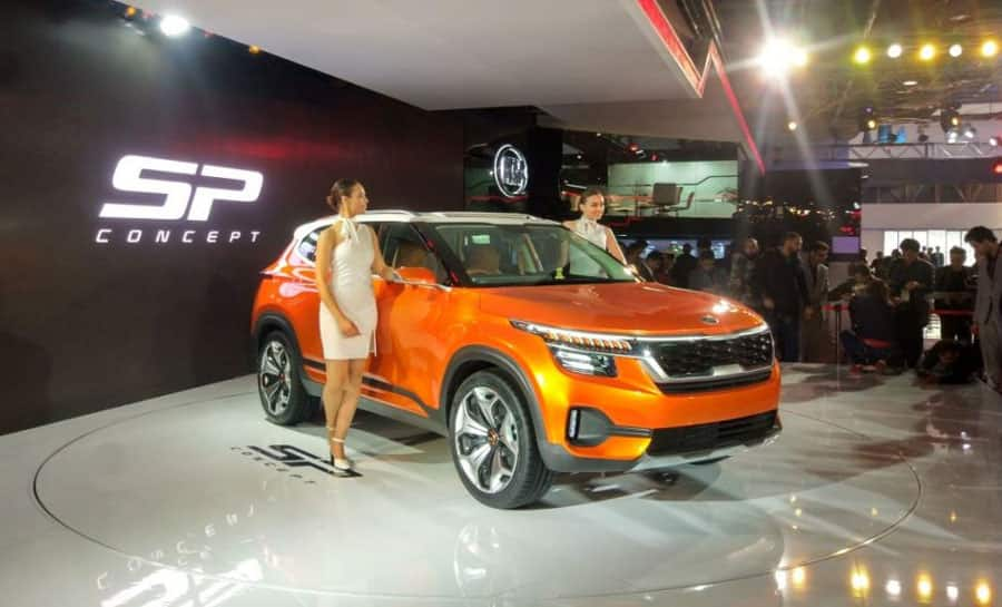 Auto Expo 2018: Kia SP Concept unveiled in India