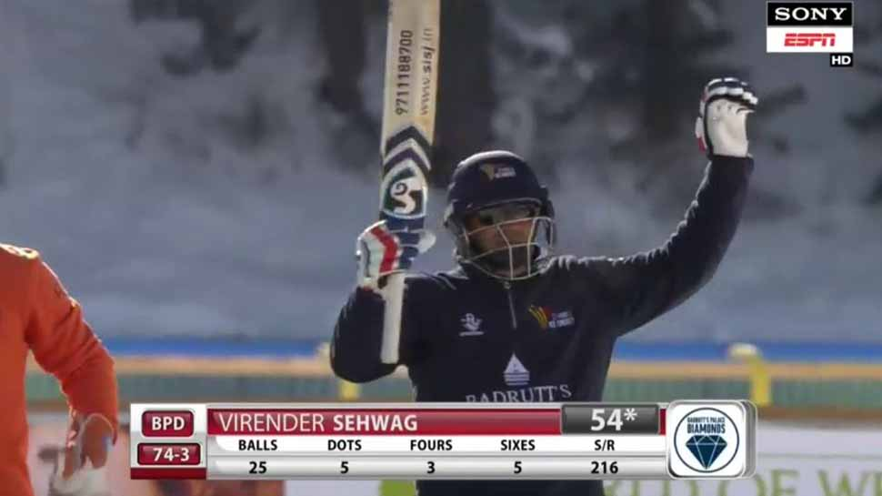 Fire & Ice: Virender Sehwag, Shahid Afridi spice it up on Lake St Moritz