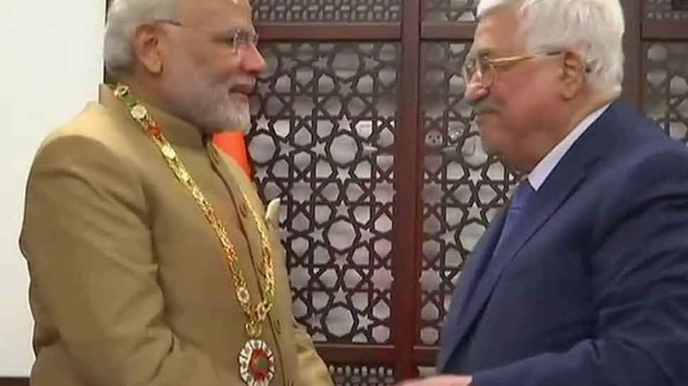 Narendra Modi, first Indian PM to visit Palestine, receives highest honour