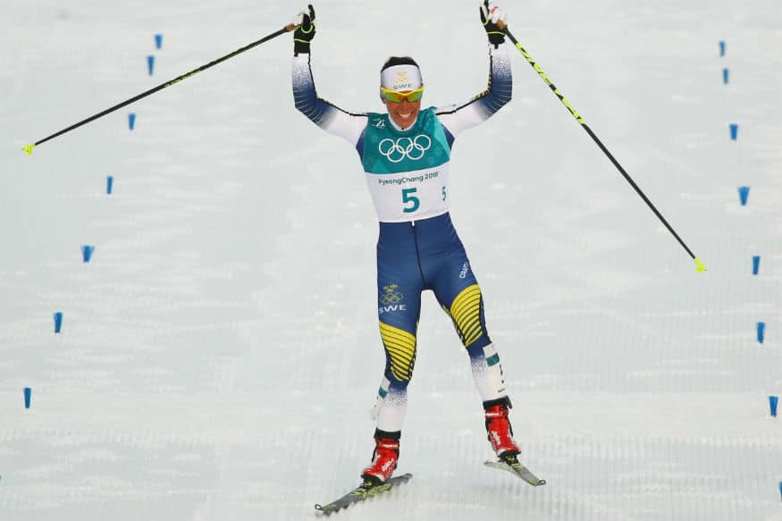 Winter Olympics: Sweden's Charlotte Kalla wins first gold in Pyeongchang