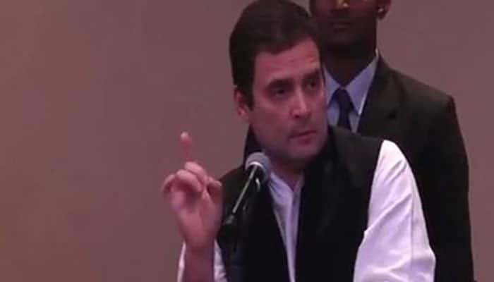 Rahul Gandhi asks 'pro-rich Modi' to waive farmer loans, shown black flags in Karnataka