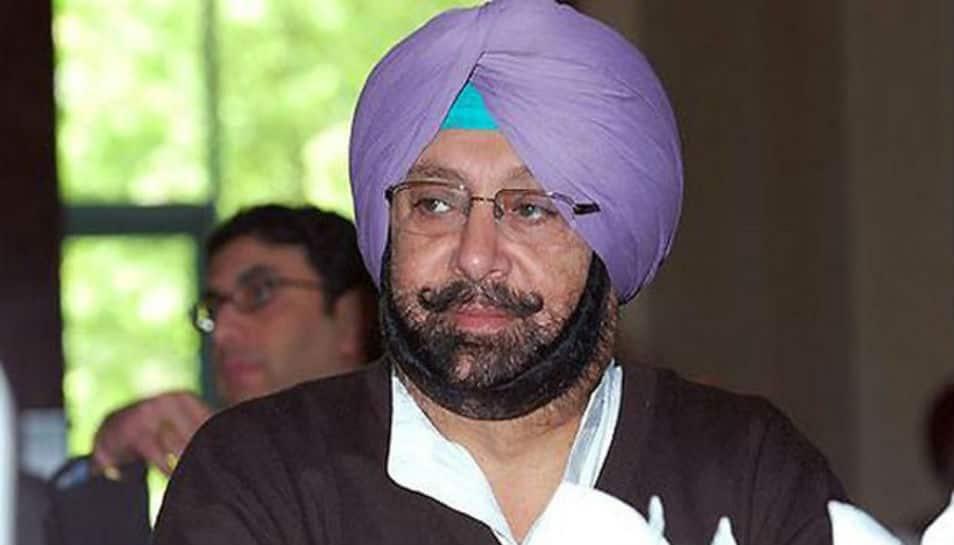 Punjab Chief Minister Amarinder Singh greets people on Mahashivaratri