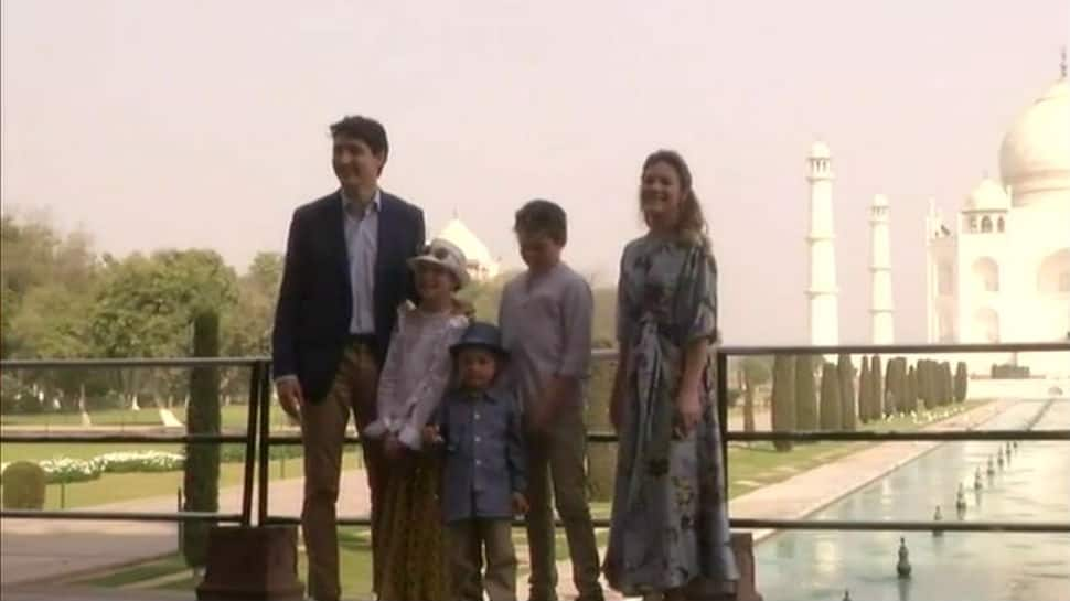 Canadian PM Justin Trudeau visits Taj Mahal with family – see pics