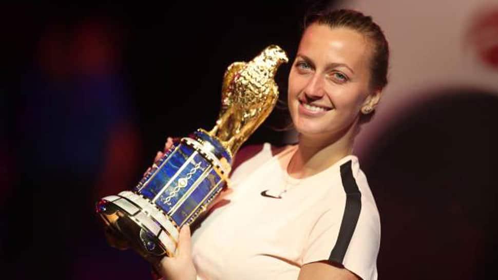 Petra Kvitova wins Qatar Open title to clinch top-10 return