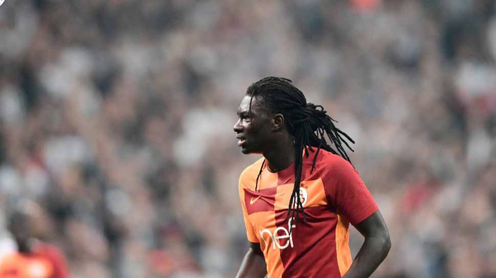 Galatasaray's Bafetimbi Gomis collapses during match