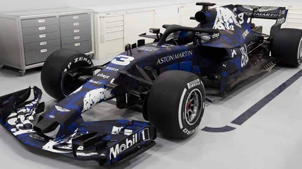 Red Bull launch new F1 car with temporary livery