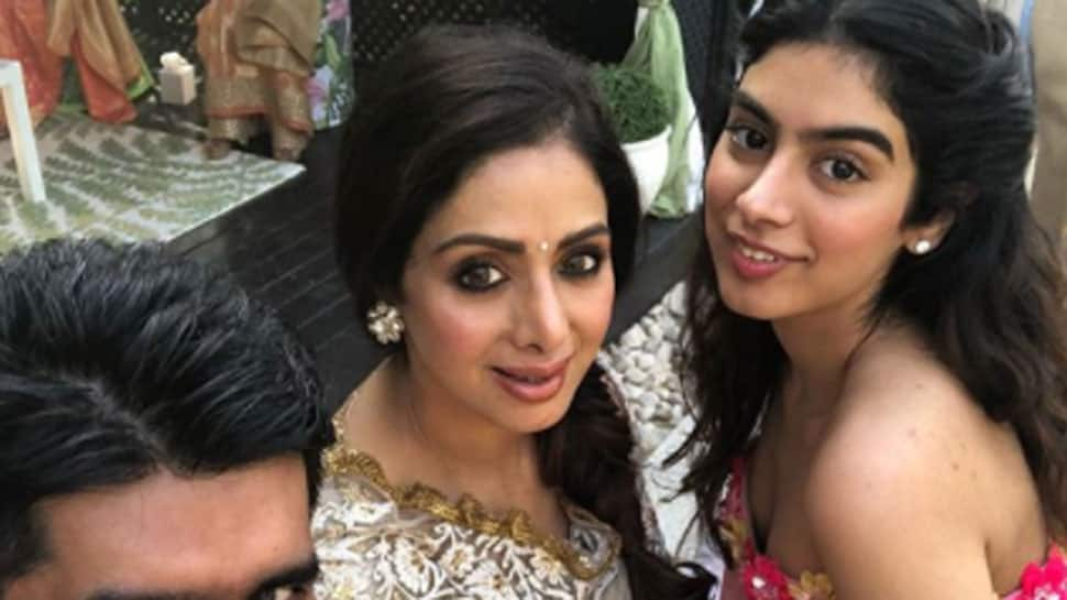 You can't take your eyes off Sridevi and daughter Khushi Kapoor at Mohit Marwah's Mehendi ceremony—Pics
