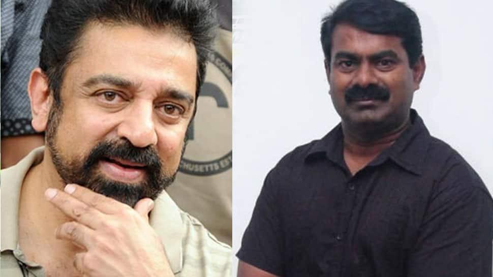 Day before party launch, Kamal Haasan meets Naam Tamilar Katchi leader Seeman