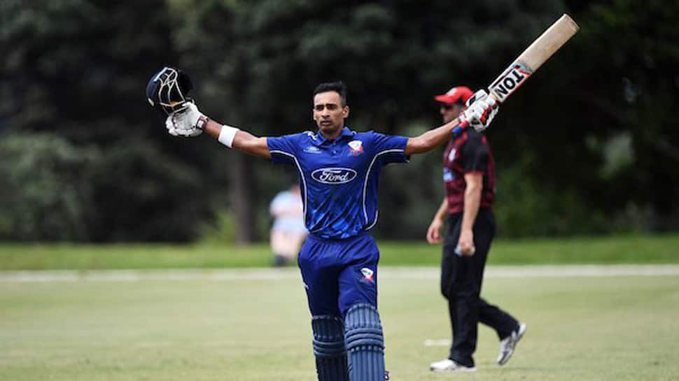 Auckland batsman Jeet Raval hits six off bowler's head at Ford Trophy